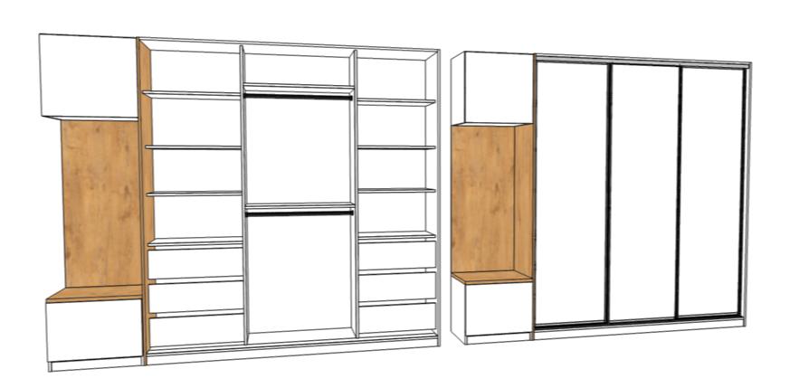 projekt szafy przedpokuj