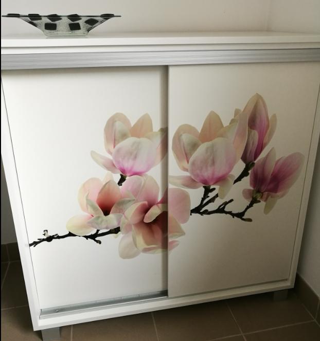 komoda z widokiem magnoli